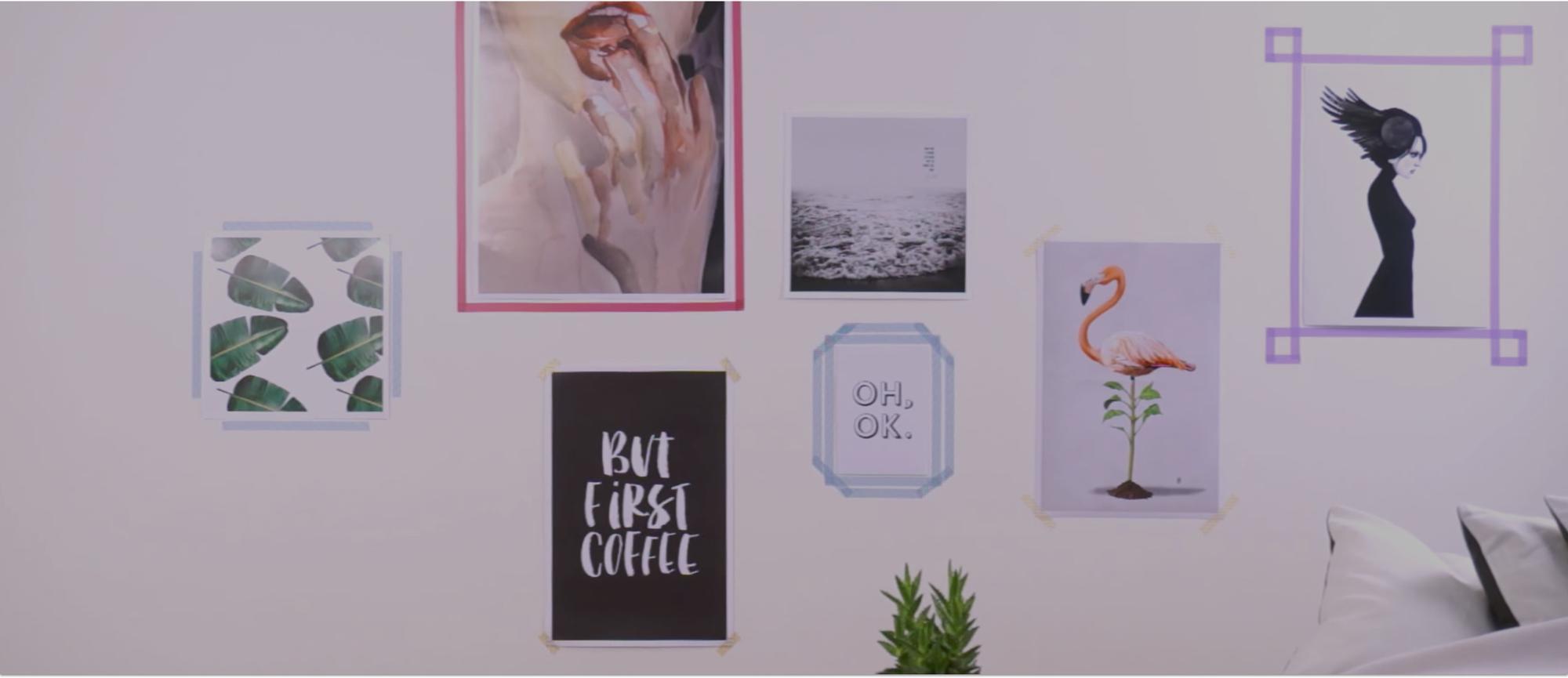 Tutorial 5 Fun Ways To Hang Posters