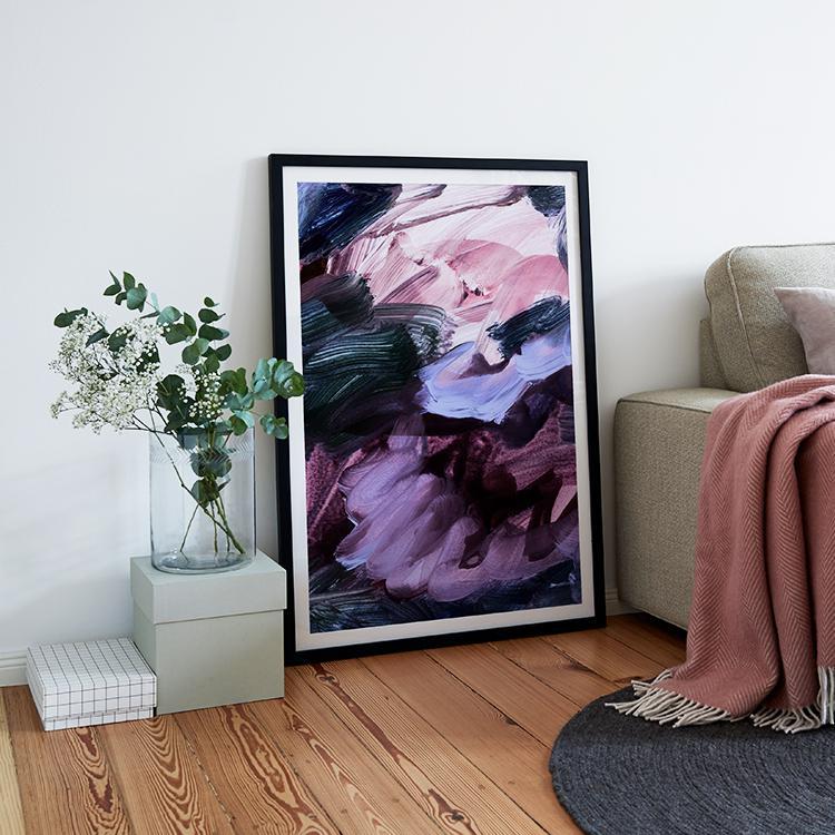 wandbilder deko in ultra violet die pantone farbe 2018. Black Bedroom Furniture Sets. Home Design Ideas