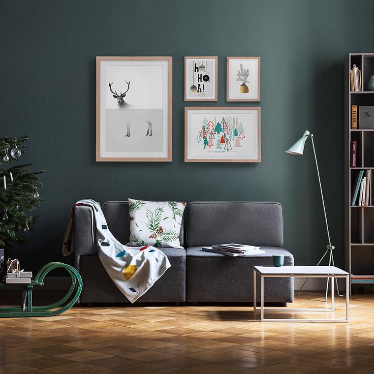 tendances de no l 2017 3 id es pour votre d co d 39 int rieur juniqe. Black Bedroom Furniture Sets. Home Design Ideas