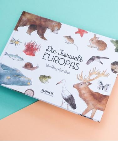 Illustriertes Kinderbuch Die Tierwelt Europas von Amy Hamilton