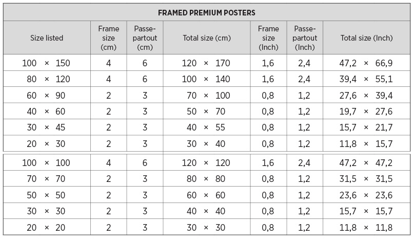 poster sizes juniqe