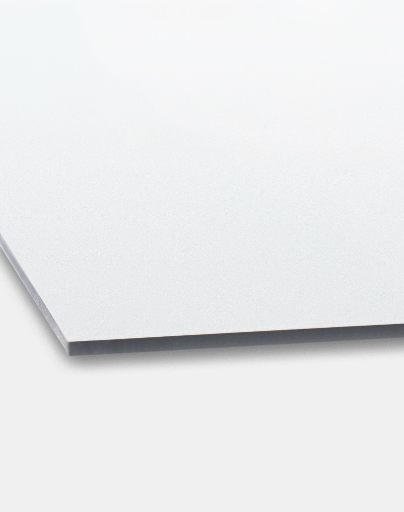 Aluminium panels with a polyethylene core.