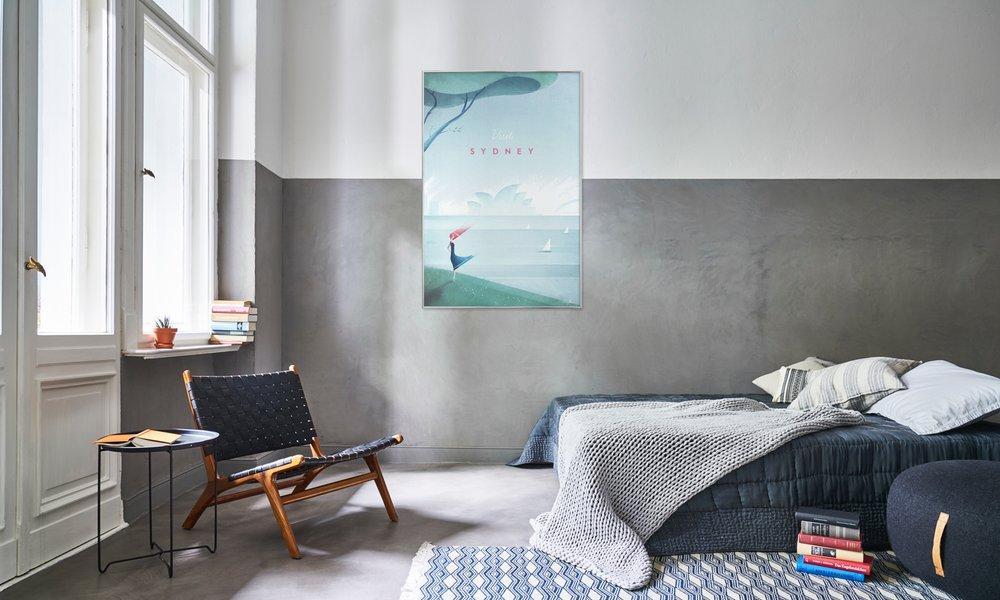 Scandinavisch Interieur Sydney : Sydney als poster door henry rivers juniqe