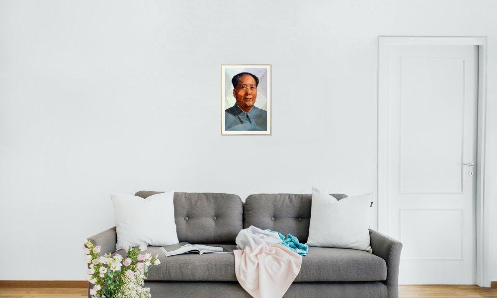 Mao Zedong as Poster in Aluminium Frame by Kubistika | JUNIQE UK
