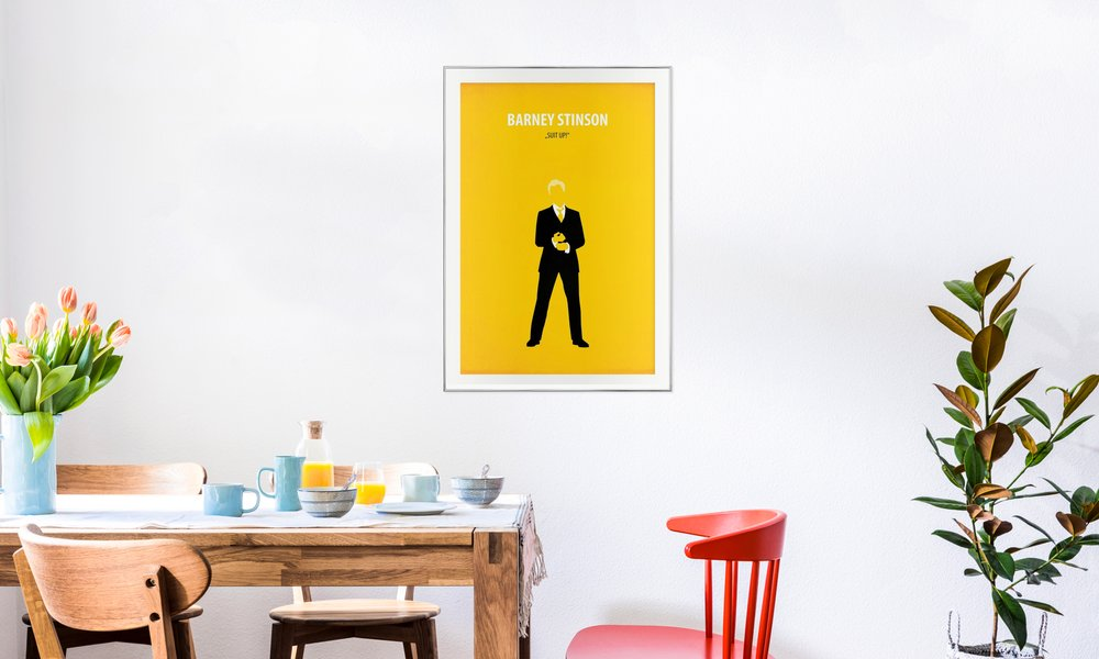 Barney Stinson as Poster in Aluminium Frame | JUNIQE