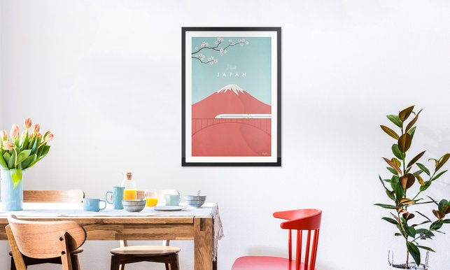 Japan en affiche premium par henry rivers juniqe