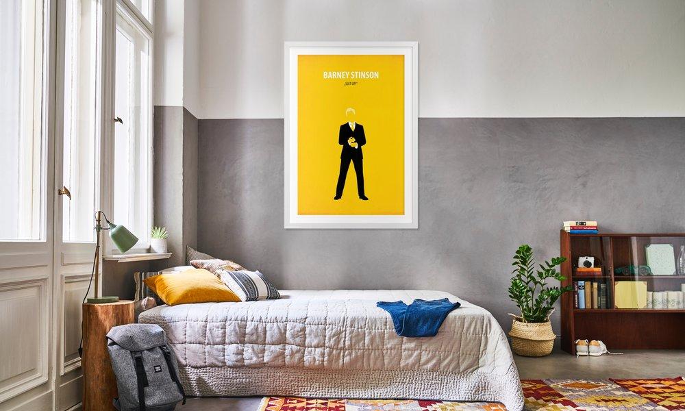 Barney Stinson als Poster im Holzrahmen von Fräulein Fisher   JUNIQE