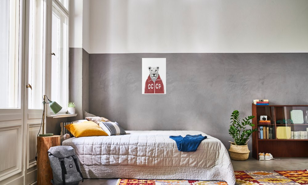 Soviet lion en affiche premium par balázs solti juniqe