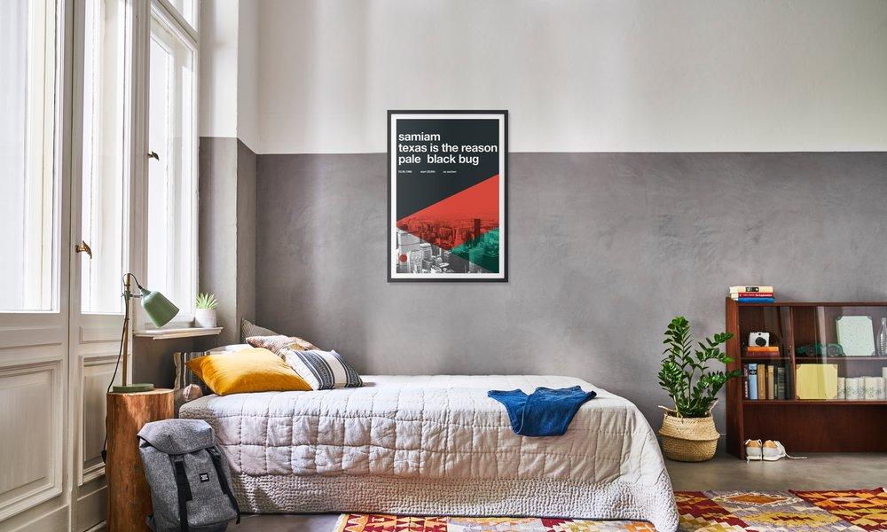 Samiam & Texas Is The Reason als Poster im Holzrahmen | JUNIQE