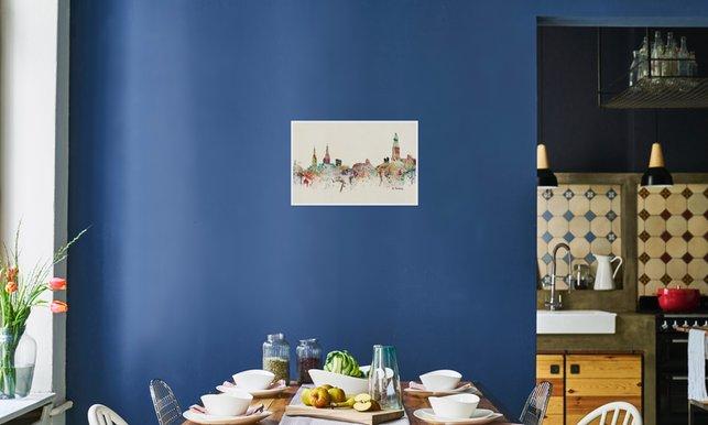 Lichte kleuren hoge raampartij eikenhout modern boerenbasic