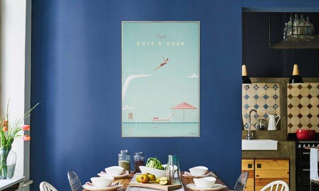 Côte dazur en affiche premium par henry rivers juniqe