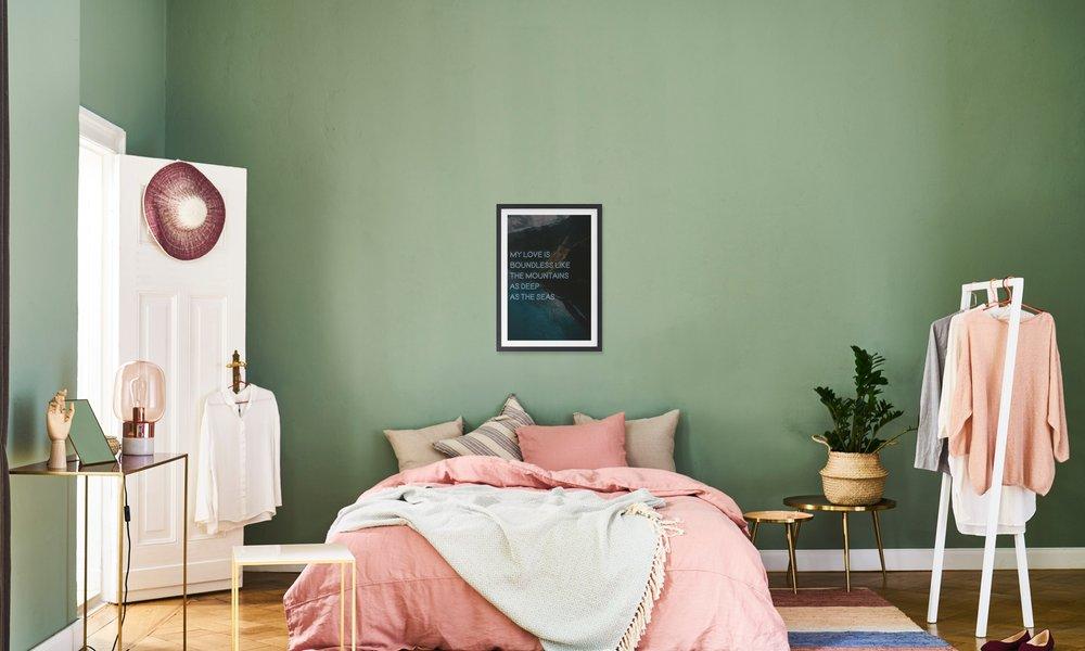 Handdoek Ophangen Keuken : My love is boundless als aluminium print door oh darling juniqe