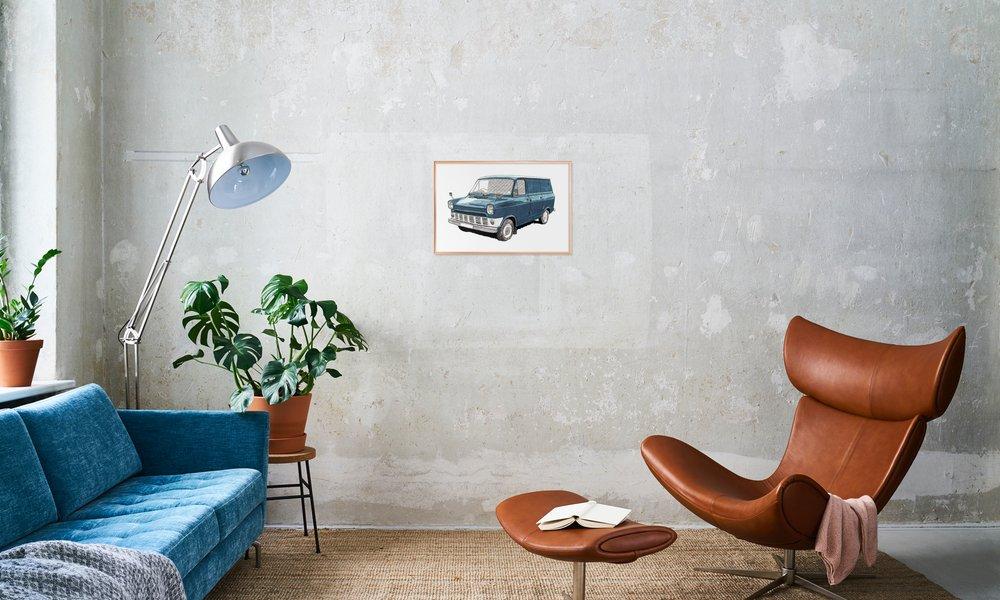 Ford Transit als Poster im Alurahmen von RikReimert | JUNIQE