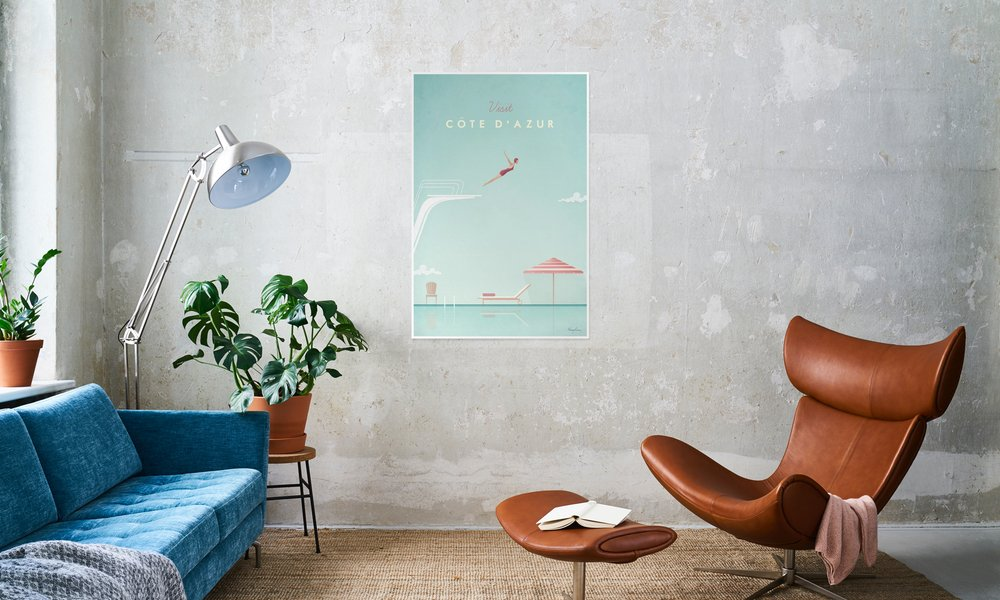 Home art mural affiches