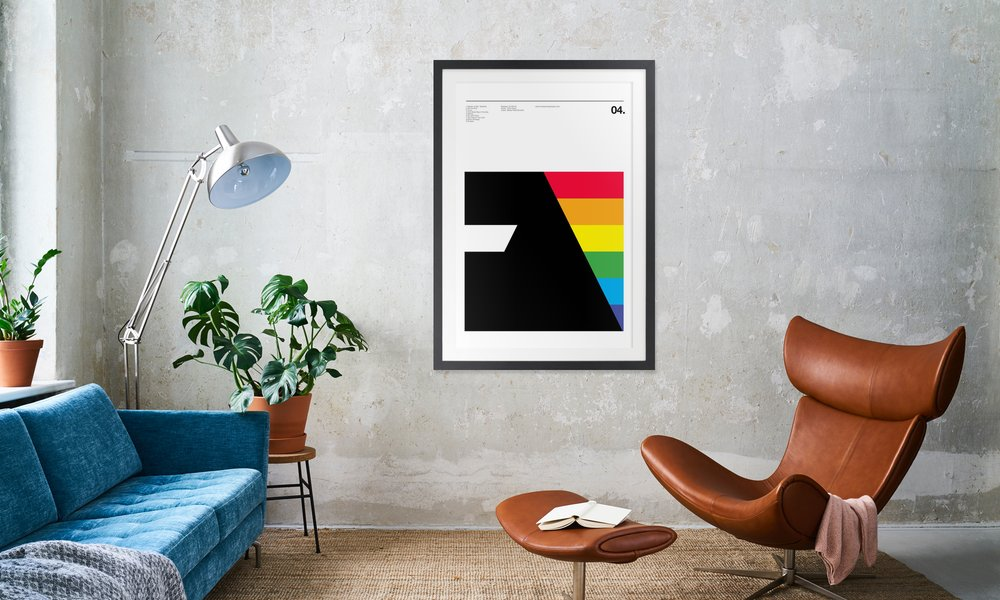 Pink Floyd Dark Side Of The Moon as Poster in Wooden Frame | JUNIQE UK