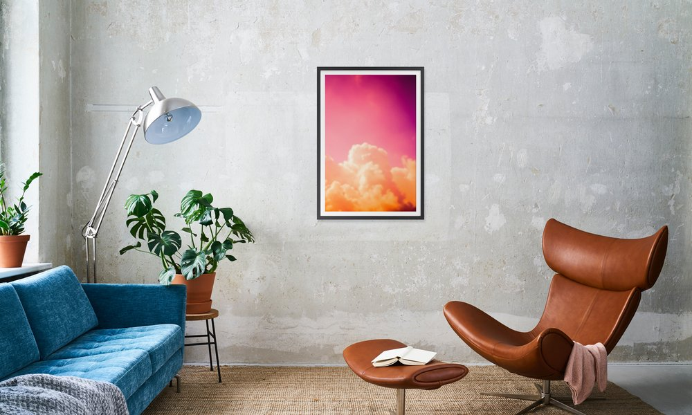 Clouds Iii As Poster In Wooden Frame By Tal Paz Fridman Juniqe