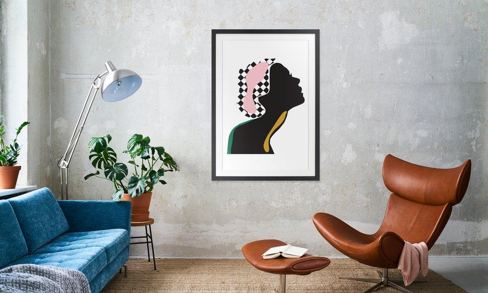 Holzrahmen Living 30x45 cm schwarz